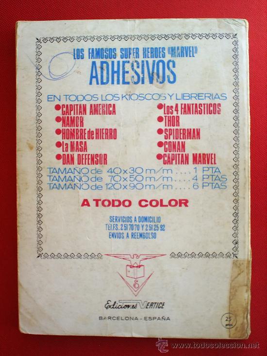 Cómics: EDICIONES INTERNACIONALESN.41 , LOS 4 FANTASTICOS , VERTICE 1973 MARVEL COMICS GROUP - Foto 2 - 21028500