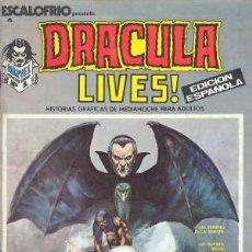 Cómics: ESCALOFRIO Nº 4 - DRACULA LIVES EDICION ESPAÑOLA VERTICE INCLUYE QUE SE PUEDE HACER CON UN VAMPIRO. Lote 26271331