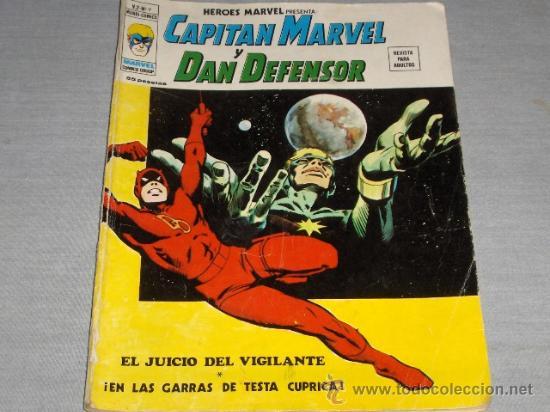 VÉRTICE VOL. 2 HÉROES MARVEL Nº 9 CAPITÁN MARVEL Y DAN DEFENSOR. 35 PTS. 1975. (Tebeos y Comics - Vértice - V.2)