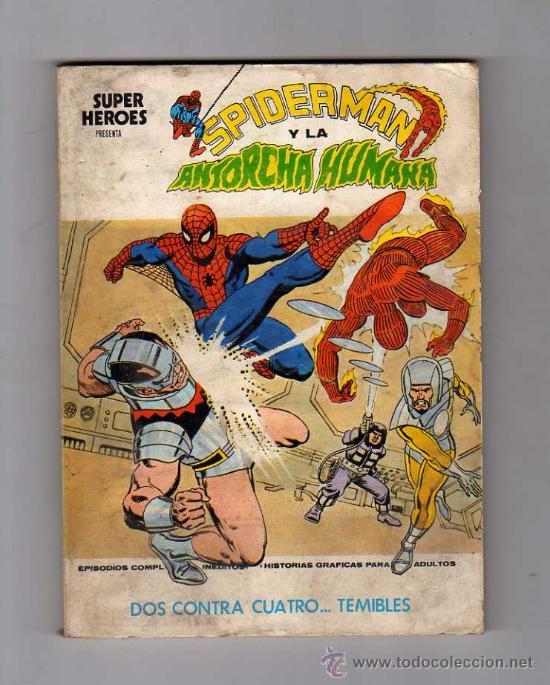 (M-1) SPIDERMAN Y LA ANTORCHA HUMANA, NUM. 2 , EDICONES VERTICE 1974 (Tebeos y Comics - Vértice - Super Héroes)