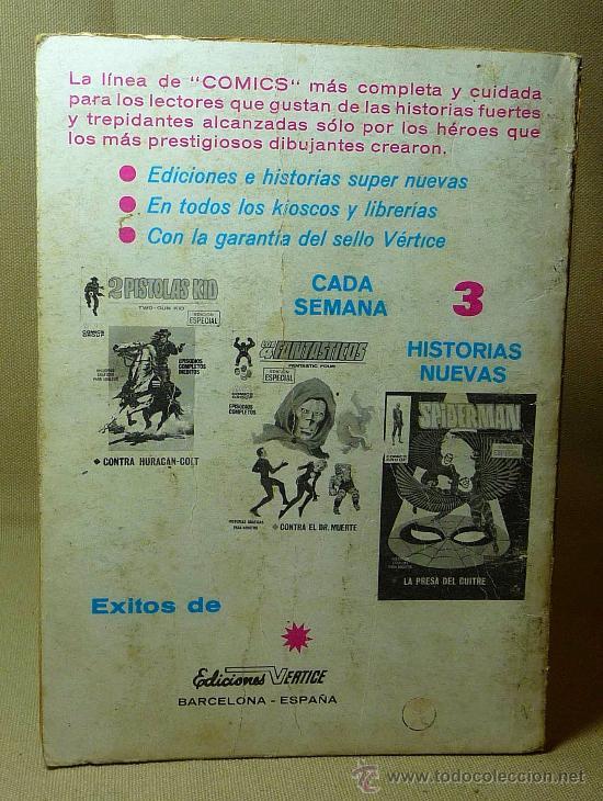 Cómics: COMIC, THOR, MARVEL, EL MUNDO ENLOQUECIDO, VERTICE, 1971, Nº 15 - Foto 2 - 22346824