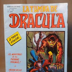 Cómics: COMIC DE TERROR, LA TUMBA DE DRACULA, ESCALOFRIO, VERTICE, Nº 3. Lote 22340719
