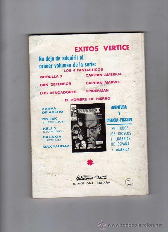 Cómics: (M-1) LOS 4 FANTASTICOS NUM. 11 - EDICION ESPECIAL , EDC VERTICA 1969 , - Foto 2 - 26643041