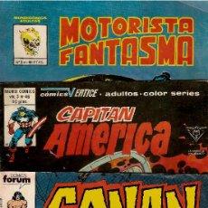 Cómics: LOTE DE 3 TEBEOS,CONAN,ELCAPITAN A Y EL MOTORISTA F. Lote 22685652
