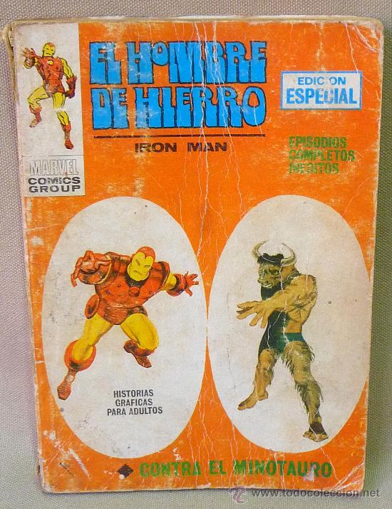 COMIC, EL HOMBRE DE HIERRO, CONTRAEL MINOTAURO, Nº10, VERTICE, (Tebeos y Comics - Vértice - Hombre de Hierro)