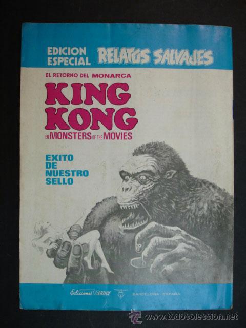 Cómics: MONSTERS OF THE MOVIES. Nº 1. RELATOS SALVAJES. NÚMERO ESPECIAL CON KING KONG. 1974. - Foto 4 - 24630331
