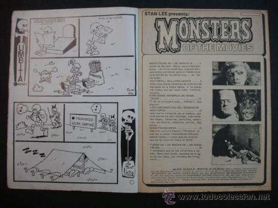Cómics: MONSTERS OF THE MOVIES. Nº 1. RELATOS SALVAJES. NÚMERO ESPECIAL CON KING KONG. 1974. - Foto 3 - 24630331