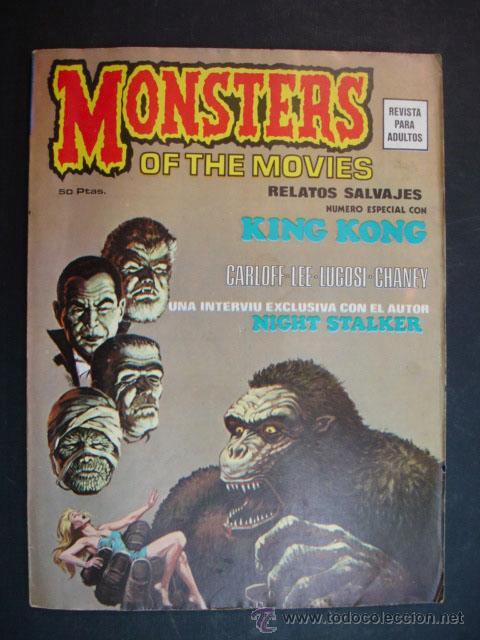 MONSTERS OF THE MOVIES. Nº 1. RELATOS SALVAJES. NÚMERO ESPECIAL CON KING KONG. 1974. (Tebeos y Comics - Vértice - Otros)
