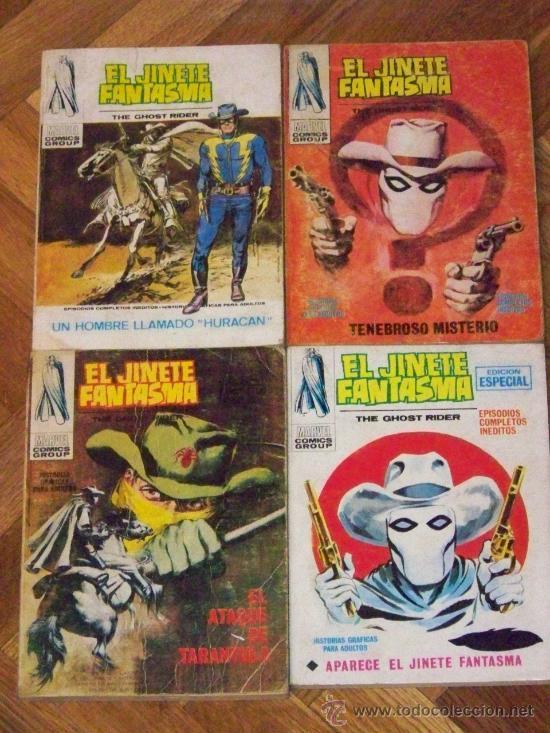 VERTICE EL JINETE FANTASMA COMPLETA 4 Nº (Tebeos y Comics - Vértice - V.1)