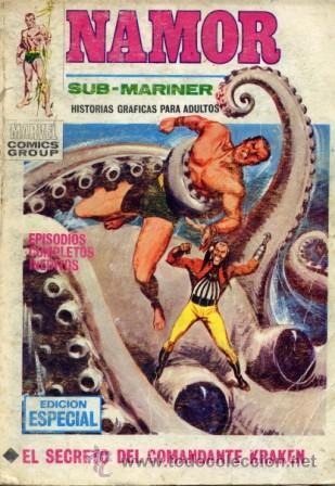NAMOR Nº12 (EDITORIAL VÉRTICE, 1971) PORTADA LÓPEZ ESPI (Tebeos y Comics - Vértice - Otros)