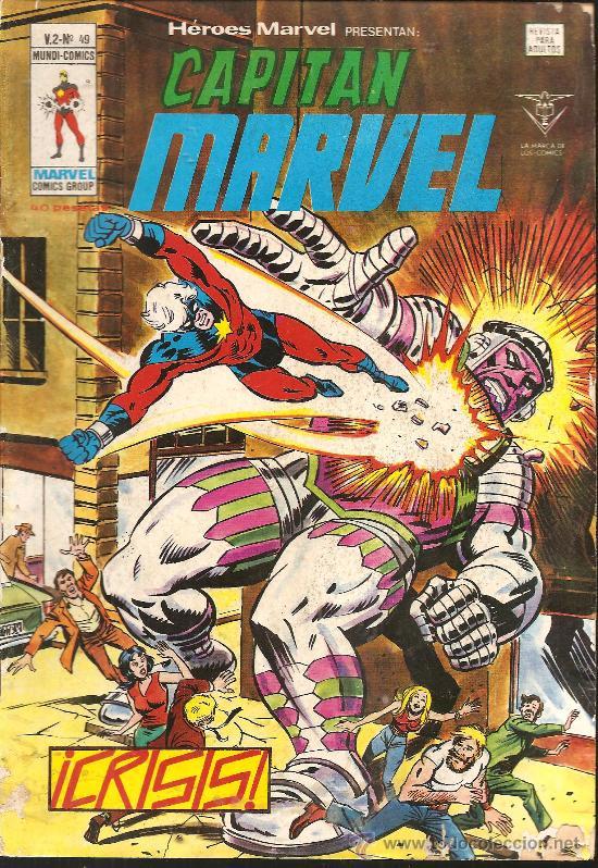 HEROES MARVEL V.2 Nº 49 CAPITAN MARVEL (Tebeos y Comics - Vértice - Otros)