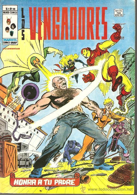 LOS VENGADORES V.2 Nº 40 (Tebeos y Comics - Vértice - Vengadores)