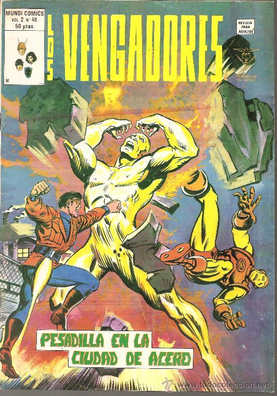 LOS VENGADORES V. 2 Nº 45 (Tebeos y Comics - Vértice - Vengadores)