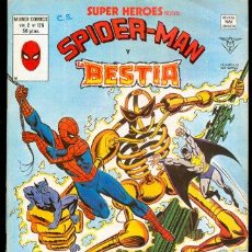 Fumetti: SUPER HEROES V2 126 SPIDER-MAN Y LA BESTIA SPIDERMAN VERTICE. Lote 27829897