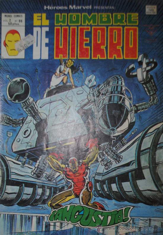 EL HOMBRE DE HIERRO HEROES MARVEL V.2 Nº 66 VOL 2 ( ORIGINAL ED MARVEL 50 PTAS) (S3) (Tebeos y Comics - Vértice - Hombre de Hierro)