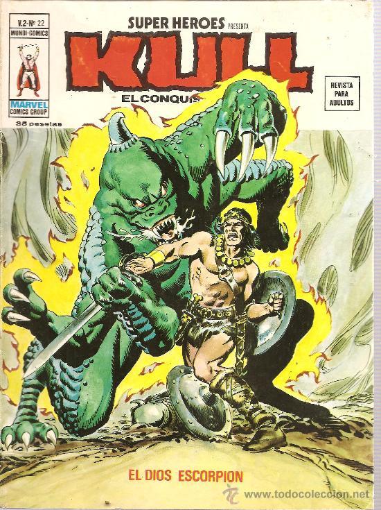 SUPER HEROES V.2 Nº 22 KULL EL CONQUISTADOR (Tebeos y Comics - Vértice - Super Héroes)