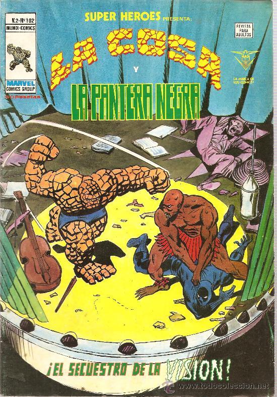 SUPER HEROES V.2 Nº 102 LA COSA Y LA PANTERA NEGRA (Tebeos y Comics - Vértice - Super Héroes)