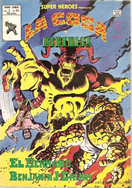 SUPER HEROES V.2 Nº 114 LA COSA Y HERCULES (Tebeos y Comics - Vértice - Super Héroes)