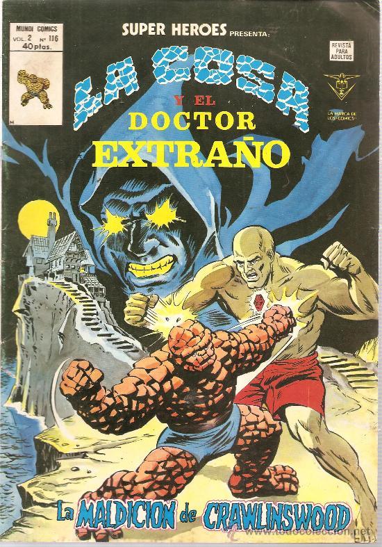 SUPER HEROES V.2 Nº 116 LA COSA Y EL DOCTOR EXTRAÑO (Tebeos y Comics - Vértice - Super Héroes)