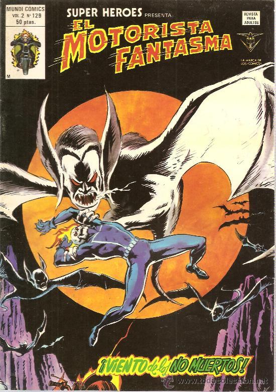 SUPER HEROES V.2 Nº 129 EL MOTORISTA FANTASMA (Tebeos y Comics - Vértice - Super Héroes)