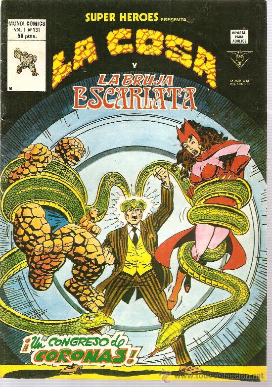 SUPER HEROES V.2 Nº 131 LA COSA Y LA BRUJA ESCARLATA (Tebeos y Comics - Vértice - Super Héroes)