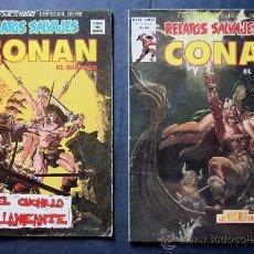 Cómics: 2 COMICS CONAN - RELATOS SALVAJES. Lote 28137186