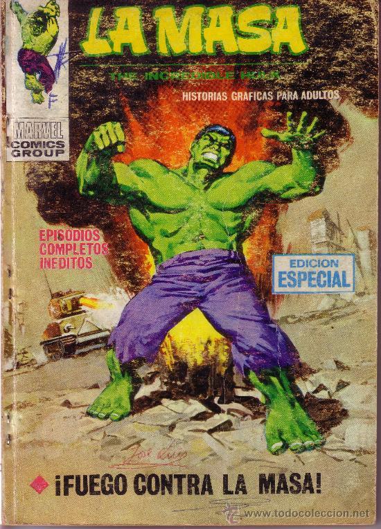 LA MASA - EL INCREIBLE HULK - FUEGO CONTRA LA MASA - VERTICE Nº 20 (Tebeos y Comics - Vértice - La Masa)