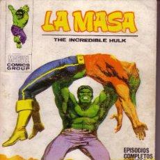 Cómics: LA MASA - EL INCREIBLE HULK - EL FIN DEL DR. SANSON - VERTICE Nº 20 . Lote 28261929