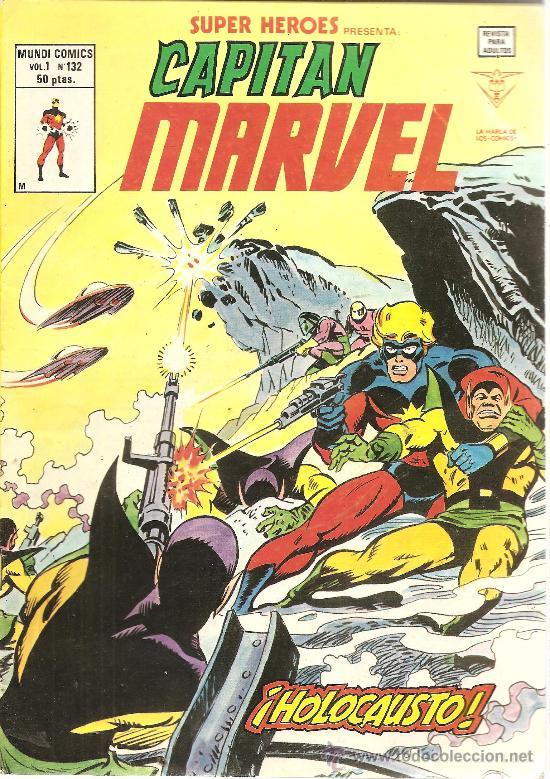 SUPER HEROES V.1 Nº 132 CAPITAN MARVEL (Tebeos y Comics - Vértice - Super Héroes)