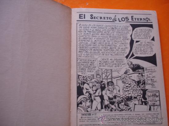 Cómics: LOS 4 FANTASTICOS VOL 1 Nº 57 EL SECRETO DE LOS ETERNOS . 1973 VERTICE . - Foto 3 - 28759401