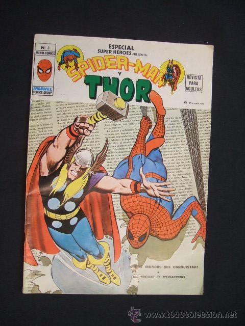 SPIDERMAN Y THOR - Nº 3 - MARVEL COMICS GROUP - (Tebeos y Comics - Vértice - Super Héroes)