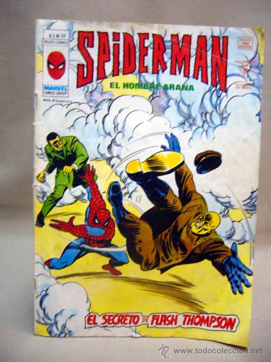 COMIC, SPIDERMAN, EL SECRETO DE FLASH THOMPSON, MARVEL, MUNDI COMICS, Nº 52 (Tebeos y Comics - Vértice - Surco / Mundi-Comic)