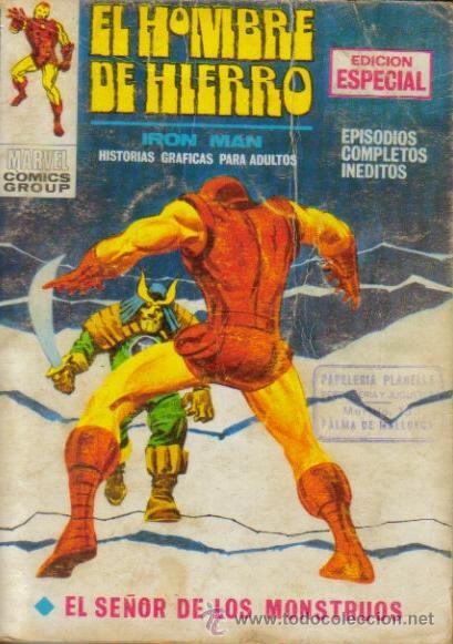 EL HOMBRE DE HIERRO V - 1 ( VERTICE ) TACO ORIGINAL 1969 LOTE (Tebeos y Comics - Vértice - Hombre de Hierro)