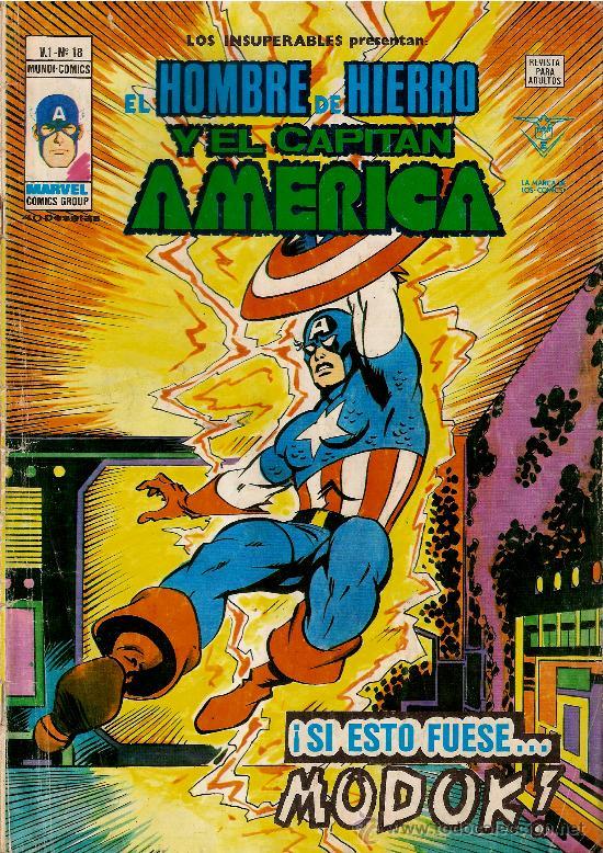 EL HOMBRE DE HIERRO Y EL CAPITAN AMERICA.VOL1Nª18 (Tebeos y Comics - Vértice - Hombre de Hierro)