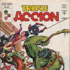 Cómics: TRIPLE ACCION VOL.1 # 21 (VERTICE,1980) - LOS DEFENSORES. Lote 29566221