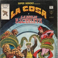 Cómics: SUPER HEROES VOL.2 # 131 (EDICIONES VERTICE,1980) - LA COSA - LA BRUJA ESCARLATA. Lote 29633559