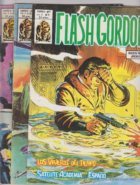 FLASH GORDON. VOLUMEN 2. VÉRTICE.LOTE DE 2 EJEMPLARES: 8 Y 21. (Tebeos y Comics - Vértice - Flash Gordon)