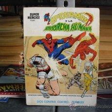 Cómics: SUPER HÉROES - NÚMERO 2 - SPIDERMAN Y LA ANTORCHA HUMANA - EDICIONES VÉRTICE 1974. Lote 29980545