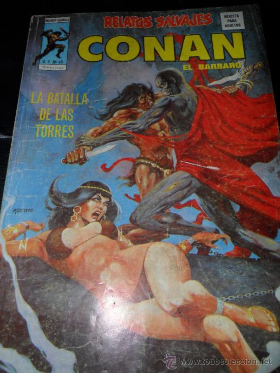 .RELATOS SALVAJES V.1 Nº 48 , CONAN EL BARBARO (Tebeos y Comics - Vértice - Relatos Salvajes)