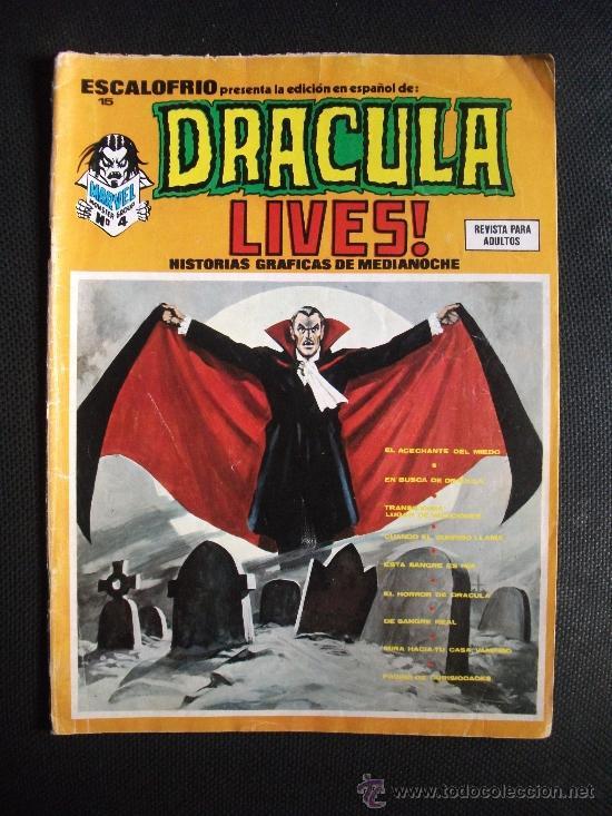 ESCALOFRIO Nº 15 DRACULA LIVES EDICIONES VERTICE (Tebeos y Comics - Vértice - Terror)