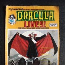 Cómics: ESCALOFRIO Nº 15 DRACULA LIVES EDICIONES VERTICE. Lote 31569491