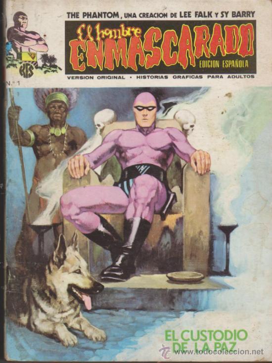 EL HOMBRE ENMASCARADO,LOTE DE 7 EJEMPLARES ENTRE EL 1 Y 8. VÉRTICE. (Tebeos y Comics - Vértice - Hombre Enmascarado)