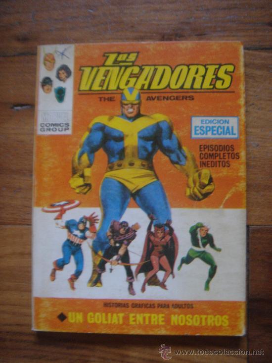 LOS VENGADORES, VÉRTICE, VOLUMEN 1, NÚMERO 12, UN GOLIAT ENTRE NOSOTROS, AÑO 1969 (Tebeos y Comics - Vértice - Vengadores)