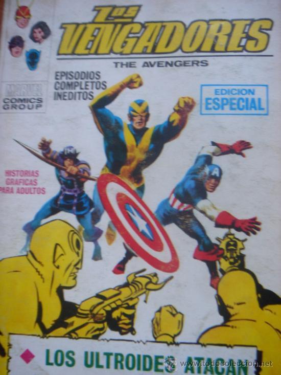 Cómics: LOS VENGADORES, VÉRTICE, VOLUMEN 1, NÚMERO 16, LOS ULTROIDES ATACAN, AÑO 1969 - Foto 2 - 31734907