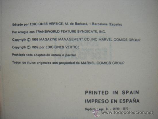 Cómics: LOS VENGADORES, VÉRTICE, VOLUMEN 1, NÚMERO 12, UN GOLIAT ENTRE NOSOTROS, AÑO 1969 - Foto 4 - 31734687