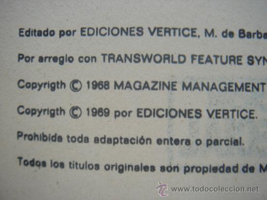 Cómics: LOS VENGADORES, VÉRTICE, VOLUMEN 1, NÚMERO 12, UN GOLIAT ENTRE NOSOTROS, AÑO 1969 - Foto 5 - 31734687