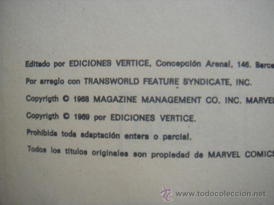Cómics: LOS VENGADORES, VÉRTICE, VOLUMEN 1, NÚMERO 16, LOS ULTROIDES ATACAN, AÑO 1969 - Foto 5 - 31734907