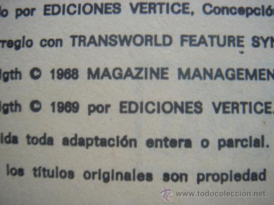 Cómics: LOS VENGADORES, VÉRTICE, VOLUMEN 1, NÚMERO 16, LOS ULTROIDES ATACAN, AÑO 1969 - Foto 6 - 31734907
