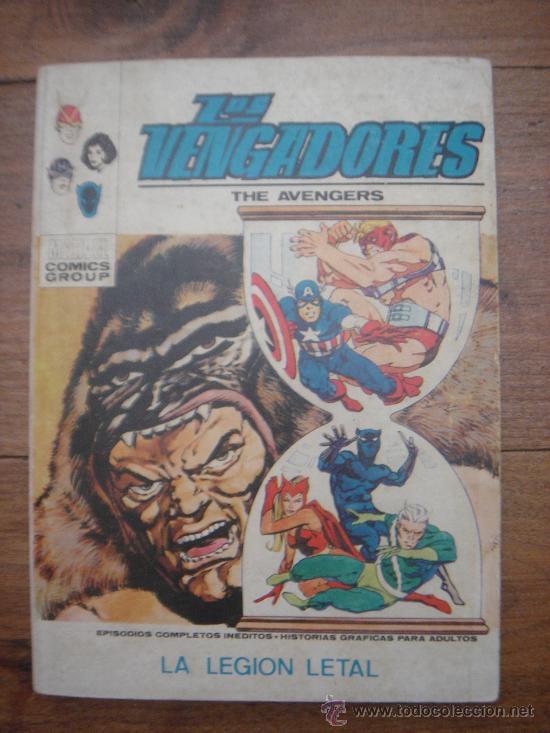 LOS VENGADORES, VÉRTICE, VOLUMEN 1, NÚMERO 36, LA LEGIÓN LETAL, AÑO 1972 (Tebeos y Comics - Vértice - Vengadores)