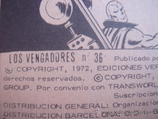 Cómics: LOS VENGADORES, VÉRTICE, VOLUMEN 1, NÚMERO 36, LA LEGIÓN LETAL, AÑO 1972 - Foto 5 - 31741426